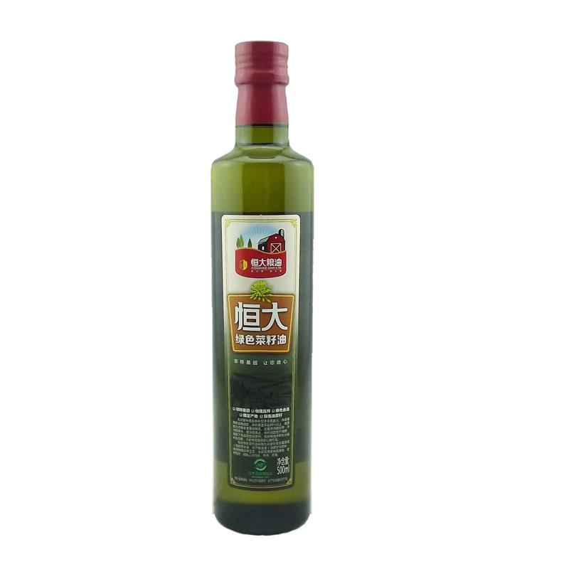 恒大绿色菜籽油500ml*2的清晰图片